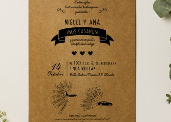 invitacion boda informal alicante