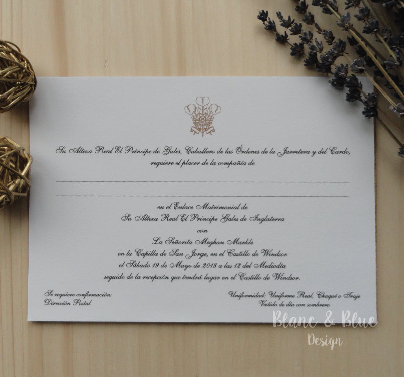 invitacion real en inglaterra con harry y megan